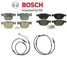 For BMW F01 F02 740i 750i Front & Rear Disc Brake Pads w/ Sensors KIT Bosch