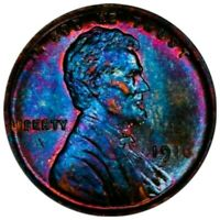 1916 AU58 Lincoln Wheat Penny Cent   beautiful monster toning.
