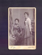 Vintage Cabinet,2 Young Women nice costumes,photo S.Yeo,Dorking   (RS2e