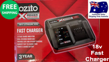 Ozito Power X Change 18V Fast Charger for Power X Change Battery mountable Safe