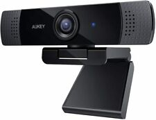 AUKEY FHD Webcam, 1080p Live Streaming Camera with Stereo Microphone, Desktop or