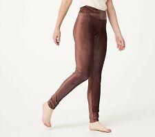 Cuddl Duds Women's Slim Leg Corduroy Stretch Legging (Deep Mahogany, M) A384372