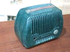 Vintage Art Deco Sentinel Model 316P- Portable Mini Tube Radio- Rare Green!!