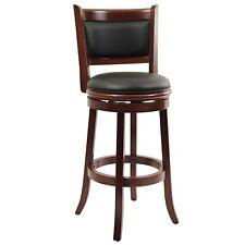Boraam 49829 Augusta Bar Height Swivel Stool 29-inch Cherry