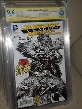 Justice League Am. #4 Cbcs Ss 9.6 1:100 Sketch Variant Catwoman Signed Finch Cgc