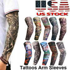10 Pcs Tattoo Cooling Arm Sleeves Cover Basketball Golf Sport Uv Sun Protection