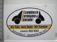 Aufkleber Sticker Heidmühler - Autoradio - Kfz Teile - Jever (5859)
