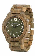 WeWood Alpha Wood Army Watch Organic Wooden We Wood Brand New Authentic