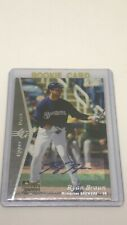 2007 SP Edition Ryan Braun #153 Rookie Auto MVP Brewers
