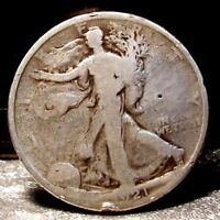 1921  P LIBERTY WALKING  HALF DOLLAR COIN