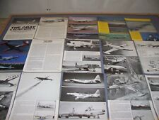 VINTAGE..LOCKHEED P-80 & T-33 TRAINER ..PHOTOS/HISTORY/DETAILS....RARE! (381G)