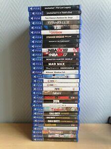 Lot de jeux video pour PS4