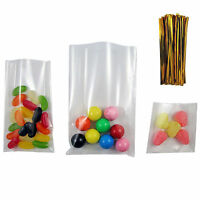 Cello Bags with GOLD twist ties Gift Display sweets Treats Various size bags