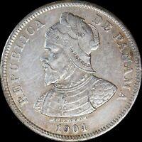 Panama 1904 25 Centesimos Balboa KM#4 rare World Coin