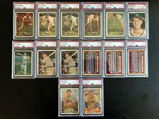 1957 Topps Baseball Graded Lot - 14 Cards - Spahn, Reese (2), Roberts, Martin