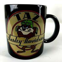 Vintage Harley Davidson Taz Looney Toons Coffee Mug An American Legend Black