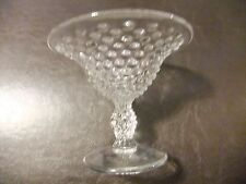 Hobnail compote vintage Clear Glass