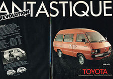 PUBLICITE ADVERTISING 114  1980  TOYOTA   LITE ACE FANTASTIQUE ( 2p)
