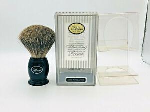 THE ART OF SHAVING Pennello Tasso Pure Badger Hand Made Brush Wet TAOS NERO