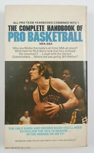 1976 Complete Handbook of Pro NBA Basketball Zander Hollander Book