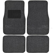 Plush Black Berber Carpet Floor Mats 4pc Car Interior Front & Rear