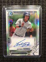 Antonio Gomez 2021 Bowman Chrome 1st Prospect Refractor Auto RC /499 Yankees