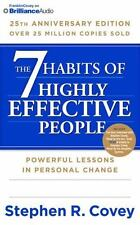 THE 7 HABITS OF HIGHLY EFFECTIVE PEOPLE (25th) unabridged CD by STEPHEN R. COVEY