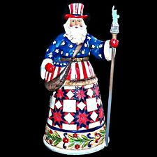 Jim Shore Heartwood Creek Perfectly Festive in All Fifty States Americana Santa