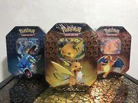 Pokemon TCG Hidden Fates Tins - Charizard, Gyarados and Raichu - All 3 included