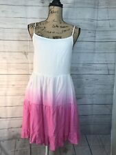 Beach By Exist Sundress Swimsuit Coverup Pink White Ombré Sz XS NWT
