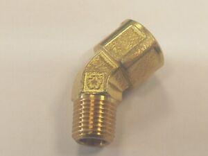 45 Degree Elbow Male Female Brass Bsp Threads,Obtuse Elbow 45o bsp in Brass