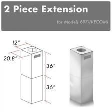 ZLINE ISLAND CHIMNEY EXTENSION up to 12ft ceiling KECOMi, 697i (2PCEXT)