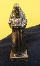 B Konrad Statue Metal Religious Statue Priest Monk Vintage Figurine