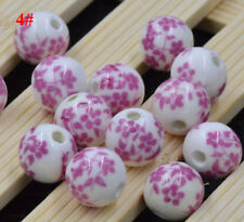 12mm Blue And White Porcelain Ceramic Round Loose Beads Jewelry Making
