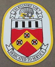 US Navy Decal - Sticker - USS Roanoke AOR-7
