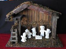 Nativity Stable Barn Creche Manger Wood