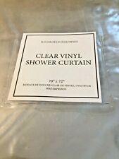 Restoration Hardware Vinyl Shower Curtain Clear  70x72  NIP 604