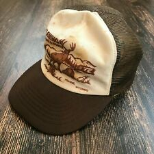 VTG FLEMING Trucking & Construction Truckers Hat Elk Mountains Frannie Wyoming