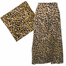 Pareo Leopardenmuster Wickelkleid Sarong Strandtuch Trachtenmode Batik PORTOFREI