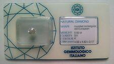 Saldi!!!Ultimi giorni! Diamante naturale -Old European blister IGI ct.0.50 K SI1