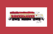 "Iowa Northern GP38 #3800 11""x17"" Matted Print by Andy Fletcher signed"