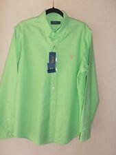 BNWT Ralph Lauren Mens Long Sleeve Shirt Aruba Lime Size Large 100% Cotton
