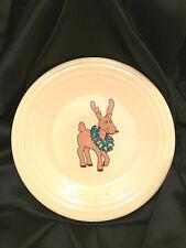 Fiesta Christmas Reindoor 8 Inch Luncheon Plate Ivory NWT 46541122