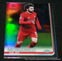 2019 Chrome Uefa Refractor #87 Mohamed Salah - Liverpool FC
