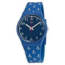 Swatch Anchor Baby Blue Dial Ladies Watch GN247