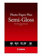 "NEW 50 Pack Genuine Canon SG-201 Semi-Gloss Photo Paper Plus 13"" X 19"" Sheets"