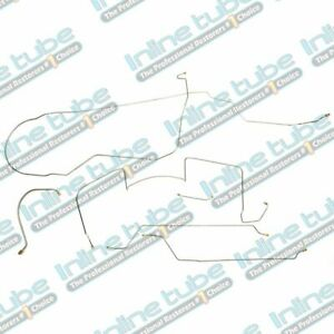1949 Ford Truck F3 1 ton Drum Brake Line Set 2wd 5pc Stainless Steel