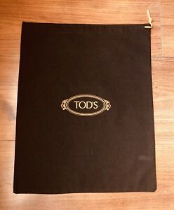 Authentic New Tod's Brown Dust Bag 15 x 12 shoes boots purse
