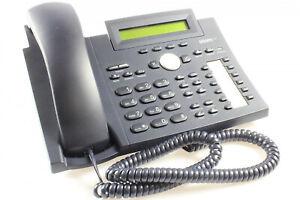 Original Snom 320 VoIP Telefon, PoE, ohne Netzteil, Schwarz, gebraucht