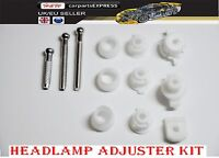 FIAT FRONT HEADLAMP / HEADLIGHT ADJUSTER  FULL KIT (SCREW BUSH CLIP SET)